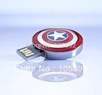 Free 30pcs/lot 2GB 4GB 8GB 16GB Marve MetalCaptain America usb flash drive memory stick pendrive with original retailer packing