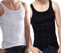 Men Firm Tummy Belly Buster Vest Control Slimming Body Shaper Underwear Shirt GL