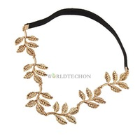 W7Tn Leaf Leaves Grecian Garland Head Hair Band Headband Gold Olive Fashion