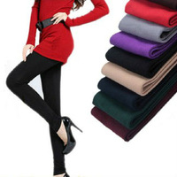 New Arrival 8 Colors For Women Warm Winter Faux Velvet Leggings High Quality Knitted Thick Slim Leggings WL002P
