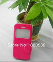 Free shipping for IPHONE 5C crazy Ma Wen window holster, PU leather,, wholesale prices, gift