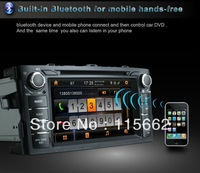 "Free Shipping!!! Toyota Corolla 2012 7"" touch screen Car DVD GPS+3D Rotating UI+iPOD+Buletooth+TV+radio+Free map"