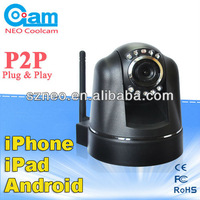 Wifi Mini Free P2P Infrared IR Night Vision IP Camera with Pan/Tilt Motion Detection Remote Access Plug and Play Security Cam