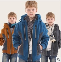 2013 winter warm coat boy fashion design 4 colors in stock boys jacket boy's hoodies kids outerwear children's clothing
