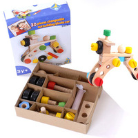 Educational toys 3d magicaf nut assembled wooden insert blocks child baby