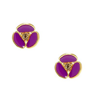 Wholesale,Free Shipping,Fashion Jewelry 2013 New Disco Pansy Stud Earrings
