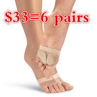 split sole toe pad, 2 holes Foot Thongs for Ballet Dance, Practice Dance Shoes, free shipping