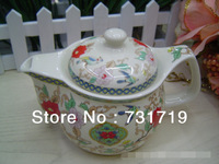 Wholesale  Large ceramic teapot   With a mesh basket inside   500ml   662