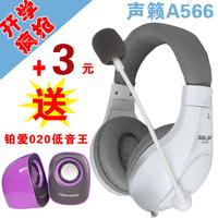 2013 NEW Salar a566 computer music sports earphones headset belt voice
