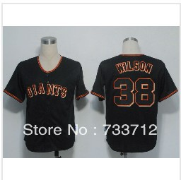 2013 new style San Francisco Giants jersey #38 Brian Wilson white /black Embroidery Baseball Jersey, Wholesale&Retail