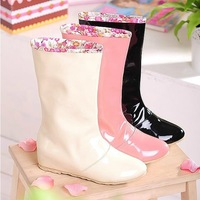 Japan Korea fashion lady boots water shoes / boots / boots / shoes large size shoes female transparent within the higher