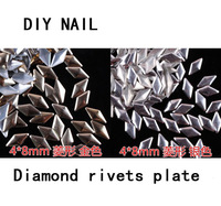 DIY nail art decoration accessories,about 10000pcs/bag,Nail the diamond rivets plate 4*8mm,two color,free shipping