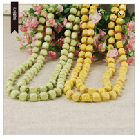 FREE SHIPPING Accessories fresh multicolour candy color square of lightweight decoration wood bead long necklace