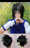 High Quality Naruto Ninja Uchiha Sasuke Cosplay Wig Pre-styled costume black short