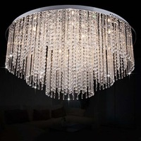 Chinese peacekeeping minimalist living room ceiling lamp modern crystal lamp crystal lamp bedroom lamp lighting lamps Layer Cake