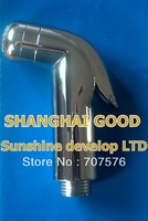 Sample purchasing Mirror Chrome Dipper Sprayer Head Good Quality Toilet Portable Mini Shower Women Handheld Shattaf  TS127