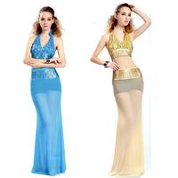 Women's 013 design long one-piece dress ktv sexy evening dress gauze perspective slim hip full dress