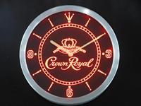 nc0104 Crown Royal Whiskey Neon Sign LED Wall Clock Wholesale Dropshipping