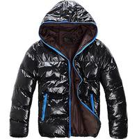 Hot Sale Classic Men's Bright Surface Hooded Short Paragraph Warm Cotton Jacket MF-52303