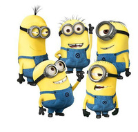 Wholessale 2014 New Design Despicable Me 2 Minion Movie kids room wall stickers Home Decor Art Nursery 5pcs/lot
