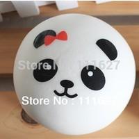 10pcs/lot Free Shipping Jumbo Squishy Buns Bread Panda Shape Squishies Cell Phone Accessories Straps Wholesale Q0616