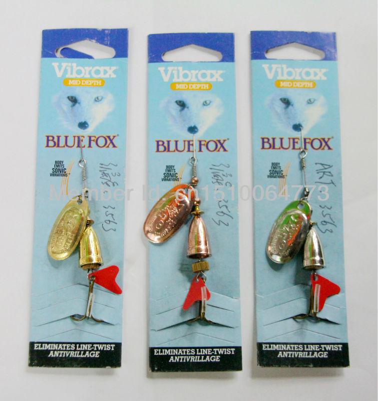Blue FOX spinner bait fishing bait bass baits fishing lures fishing tackle spinner blades size 3# 11G(China (Mainland))