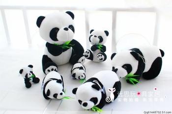 Giant panda plush toy doll bamboo toy birthday gift 8cm,16cm,20cm.