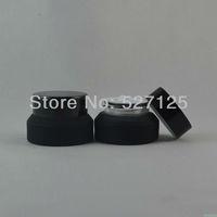 50pieces/lot High quality 15g black cream jar,cosmetic jar, glass jar or cream container,eye cream jar