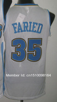 Cheap Sale #35 Kenneth Faried white Men's  Basketball jerseys free shipping accept mix order