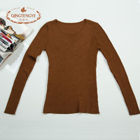 Ameliorated 2013 autumn slim comfortable breathable solid color o-neck long-sleeve sweater