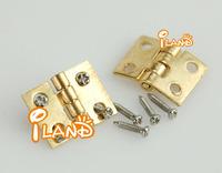 iland Dollhouse Miniature Furniture Brass Hardware Square Hinges 10pcs OA0066