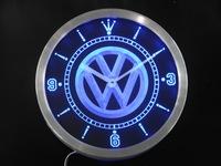 nc0171 Volkswagen VW Car Neon Sign LED Wall Clock Wholesale Dropshipping