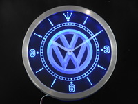 nc0171 Volkswagen VW Car Neon Sign LED Wall Clock Wholesale Dropshipping
