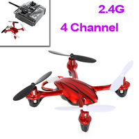 Red 4 Channel Mini UFO 2.4G 360 Eversion 6AXIS Aero Craft RC Quad Copter Helicopter JXD 385 wholesale