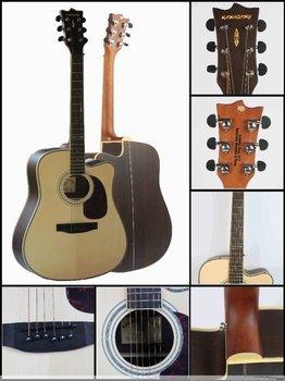 KAWASA korea guitar 41inch solid wood good sound acoustic guitar