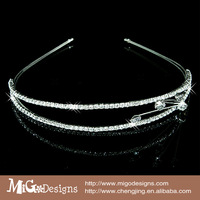 Migodesigns 2014 Fashion Crystal simply style design Hair Jewelry 18K Gold Plated Women Bling Headband Gold Head Band