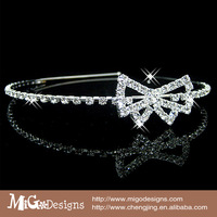 Free Shipping Migodesigns 2013 Fashion Crystal Hair Jewelry 18K Gold Plated Little Bow Bridal Hairband