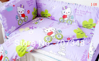 The Baby Sleep More Comfortable, More At Ease,Infant Crib Bedclothes,Free Shipping,Boys and Girls Kids Crib Bedding Bumpers Sets