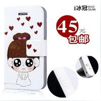 For iphone  4 s phone case  for apple   4 iphone4 phone case phone case leather case protective case