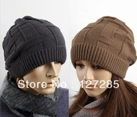 Free Shipping Wool hat men's hats in autumn and winter warm winter hat cap trend of male children knitted hat