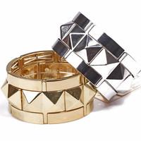 Minimum Order $20 (mixed order) Fashion accessories alloy punk rivet trigonometric all-match brief elastic bracelet