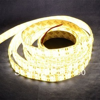 Stylish led decorative light Waterproof IP65 Warm White Color DC12V Double Row LED Flexible Strip SMD 5050