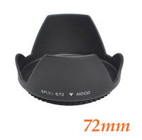 Free shipping High Quality Metal  72mm 72mm Screw Mount Flower Lens Hood for Nikon Canon Sony Pentax