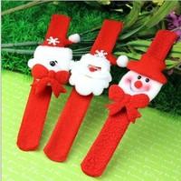 New Arrival Wholesale 20pcs/lot Christmas Decorations/Christmas clap ring/Santa clap ring(Plastic)/Chrismas Gifts Hand Band