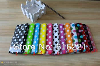 Free Shipping 100pcs/lot New Lovely Polka Dots TPU Soft Silicone Case Cover for Samsung Galaxy Note 3 III