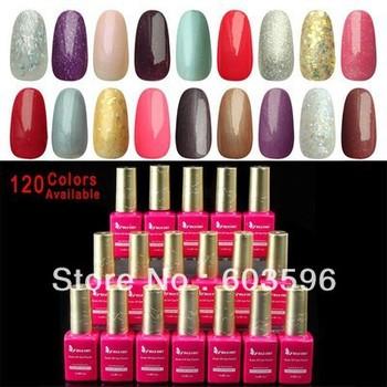 Wholesale 6pcs 15ml Nail Art Soak Off Glitter UV LED Gel Nail Polish Lamp Tips 120 Colors New Fashion #6*H20