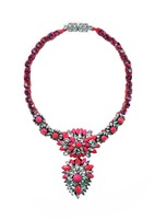 Hot-selling multi-layer shourouk neon color perfect knitted necklace