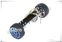 Two self-balancing precision code disc 2WD car, speed DC gear motor, 334 motor encoder, smart car frame