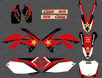 0098TEAM GRAPHICS &BACKGROUNDS DECALS STICKERS Kits for HONDA CRF250R CRF250 2010 2011 2012 2013 & CRF450R CRF450 2009-2013 star