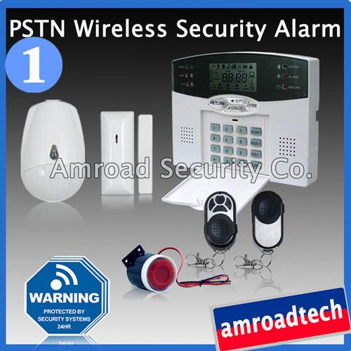1 Set DIY LCD 40 Zones PSTN Landline Wireless Home Security Burglar Alarm System w Internal Antenna iHome328M1, Ship by Post(China (Mainland))